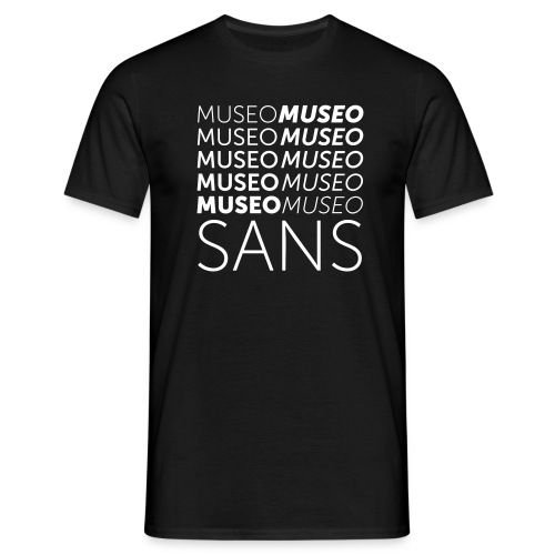 museo sans - Men's T-Shirt
