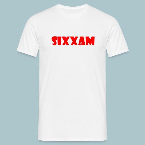 sixxam logo rood - Mannen T-shirt