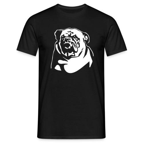 English Bulldog - negative - Miesten t-paita