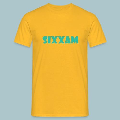 sixxam logo blauw - Mannen T-shirt