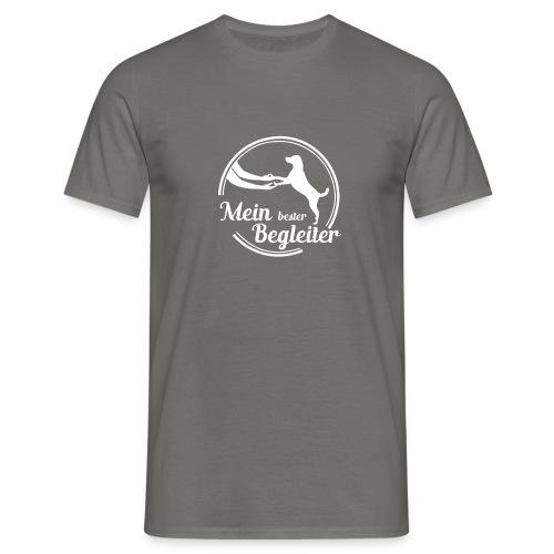 mein lester begleiter logo weiss - Männer T-Shirt