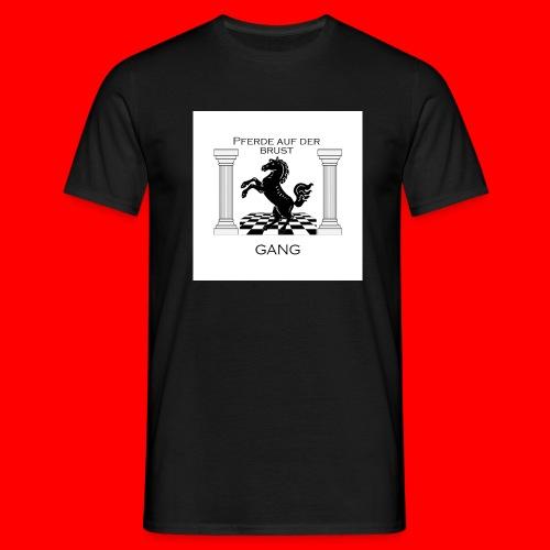 Pferde Auf Der Brust Gang - Männer T-Shirt