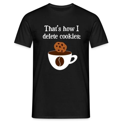 Cookies Kaffee Nerd Geek - Männer T-Shirt