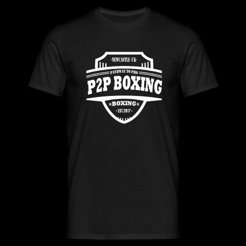 P2P Boxing White Logo - Men's T-Shirt