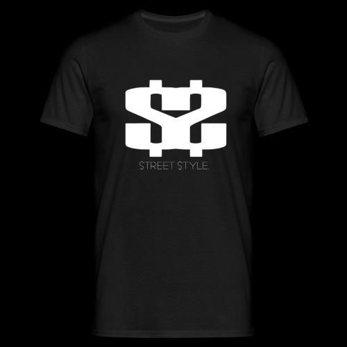 $$ WHITE LOGO - T-shirt herr