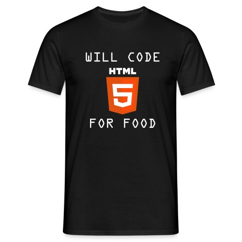 willcodehtml5 http www w3 org html logo cc by - Camiseta hombre