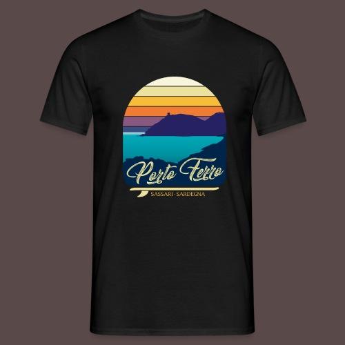 Porto Ferro - Vintage travel sunset - Maglietta da uomo