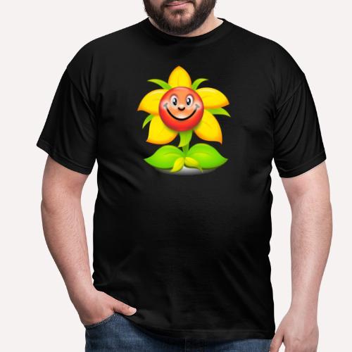 Smiling Face Happy Flower - Men's T-Shirt