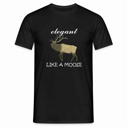 elegantmoose vector - Men's T-Shirt