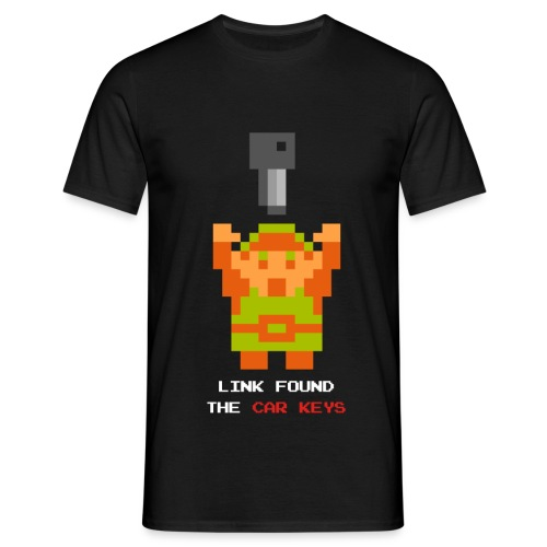 link carkeys white text - T-shirt herr