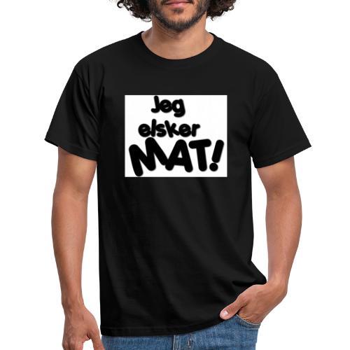 jeg_elsker_mat_2 - T-skjorte for menn