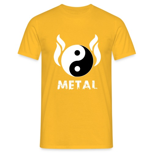 YIN YANG METAL - Männer T-Shirt