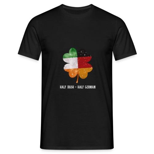 Half Irish Half German Kleeblatt - St Patricks Day - Männer T-Shirt