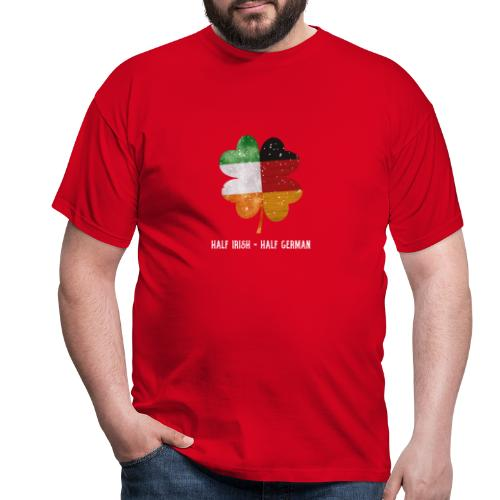Half Irish Half German Kleeblatt - St Patricks Day - Männer T-Shirt