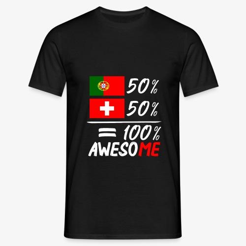 50% Portugal 50% Schweiz - Männer T-Shirt