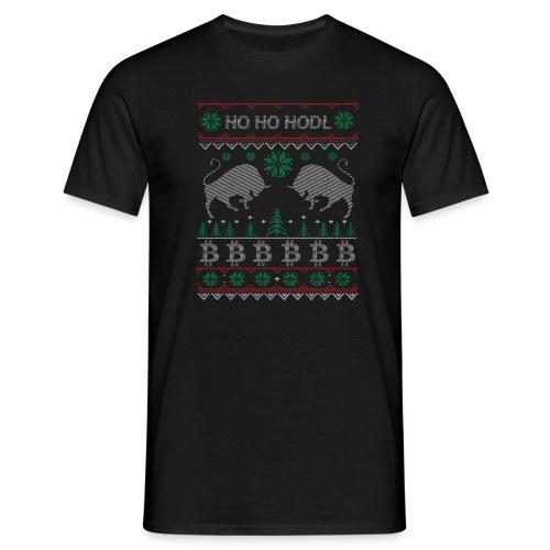 Ugly Christmas Bitcoin Pullover T-Shirt - Männer T-Shirt
