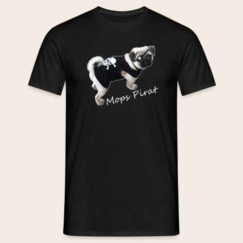 Mops Pirat 2 - Männer T-Shirt