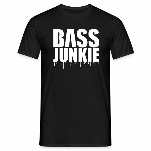 Bassjunkie Bass Music Musik Electro Festivals DJ - Männer T-Shirt