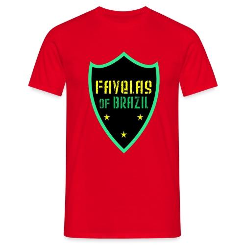FAVELAS OF BRAZIL NOIR VERT DESIGN - T-shirt Homme