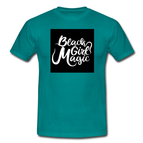 Black Girl Magic 1 White Text - Men's T-Shirt