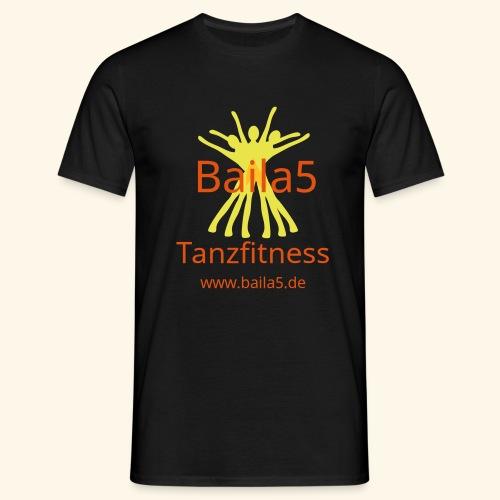 Baila5 Tanzfitness gelb - Männer T-Shirt