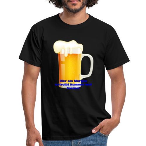 Bier am Morgen vetreibt Kummer und Sorgen Produkte - Männer T-Shirt