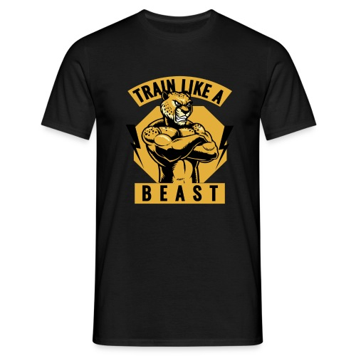 Train like a beast /Katzen-Tiger Design /Fitness - Männer T-Shirt