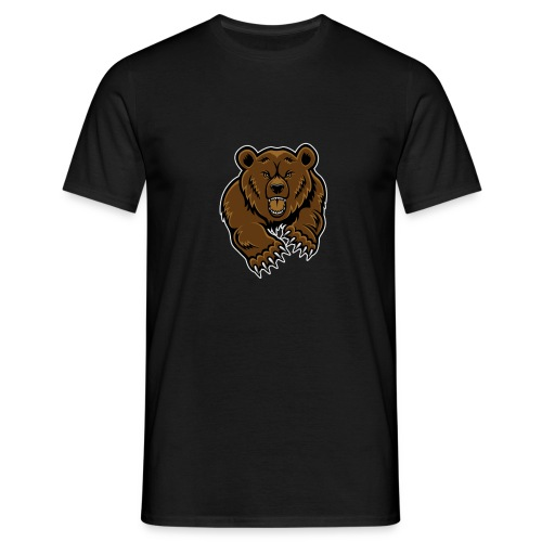 mean-bear-face-clipart-1 - Men's T-Shirt