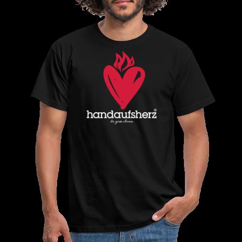 Hand aufs Herz - Männer T-Shirt