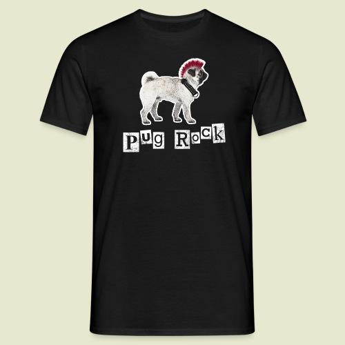 pug rock rot weiss - Männer T-Shirt
