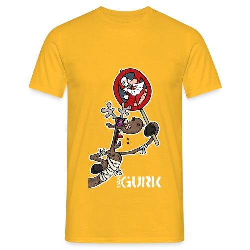 VAN GURK Rentier FLitzer mit Logo VAN GURK weiss - Männer T-Shirt