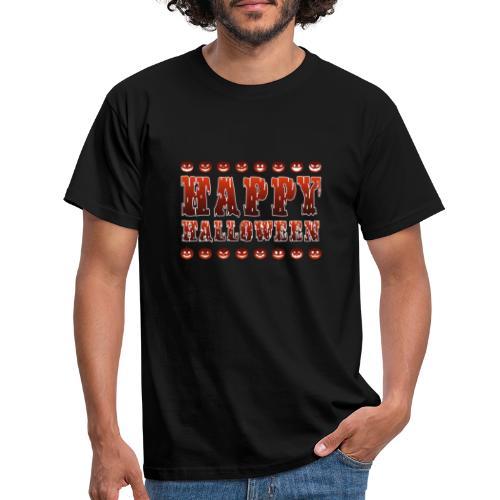 Happy Halloween med pumpor - T-shirt herr