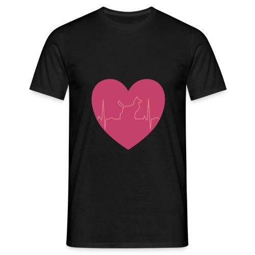 Herz Hund - Männer T-Shirt