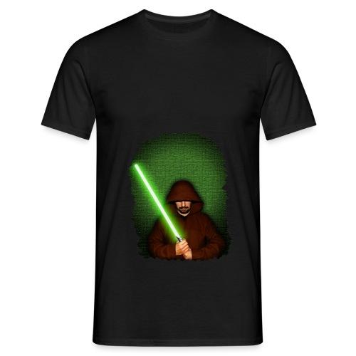Jedi warrior with green lightsaber - Maglietta da uomo