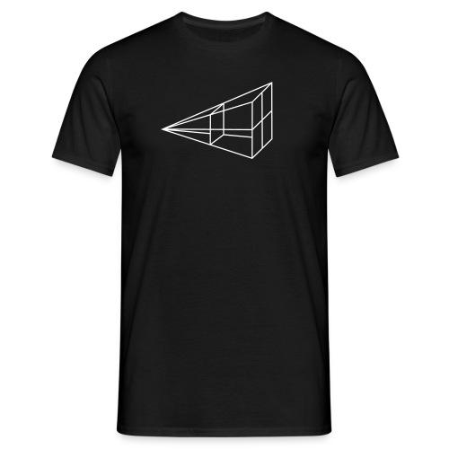 inverse kvadrat tegning - T-skjorte for menn