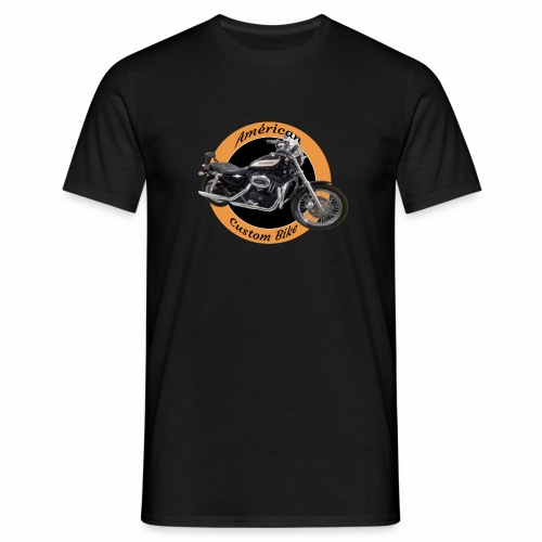 Américan_Custom_Bike - T-shirt Homme