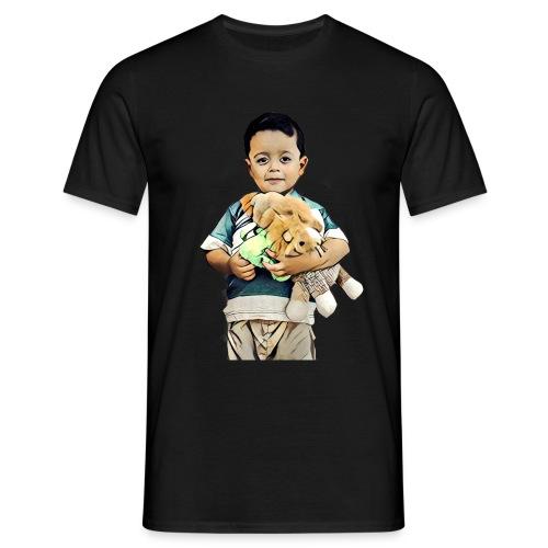 Boy with teddy bear - T-skjorte for menn