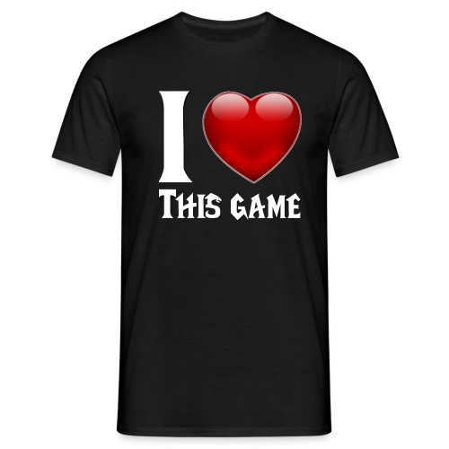 i love this game blanc - T-shirt Homme