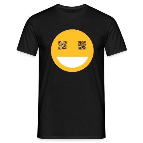 qr smile - Männer T-Shirt