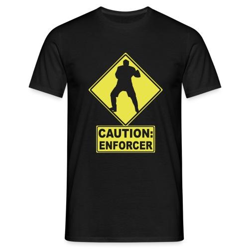 CAUTION: Hockey Enforcer - Men's T-Shirt
