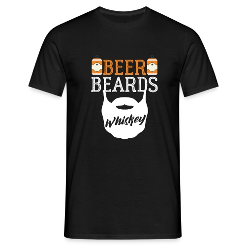 Beer Beards Whiskey - Männer T-Shirt