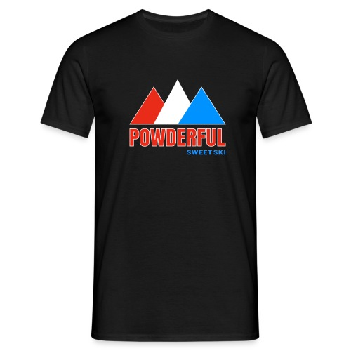 Powderful Sweet Ski - Männer T-Shirt