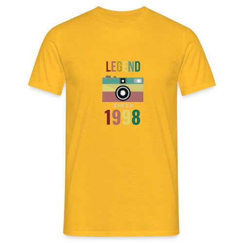Legend since 1998 birthday t-shirt - Mannen T-shirt