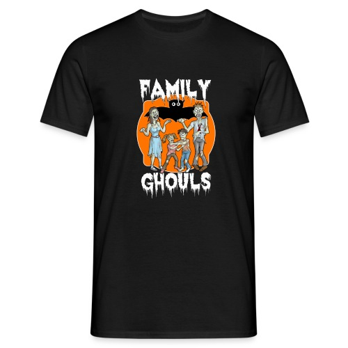 Zombie Family Ghouls Halloween Night Party - Men's T-Shirt