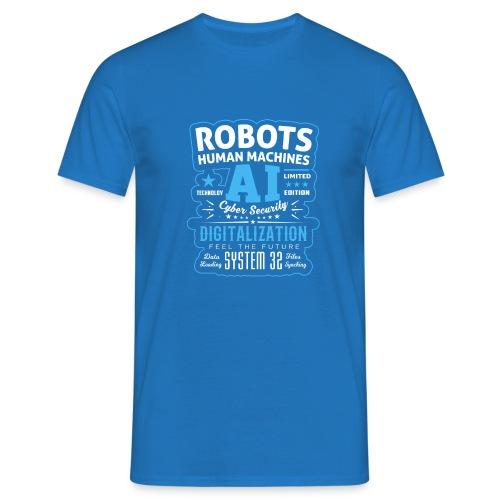 Robots Human Machine Ai Cyber Security - Maglietta da uomo