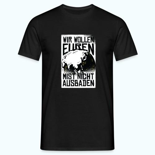 Klare Kante Zeigen - Fridays For Future - Men's T-Shirt