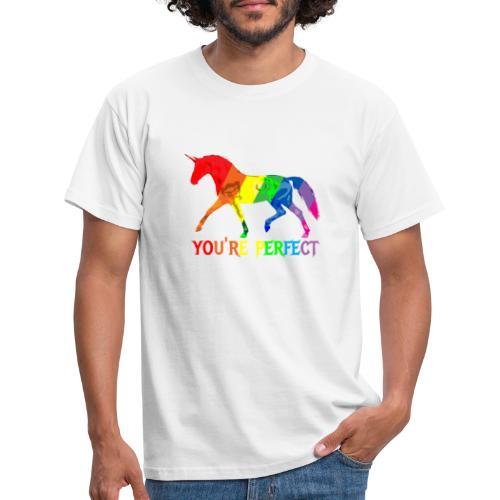 Regenbogen Einhorn - You´re perfect - Männer T-Shirt