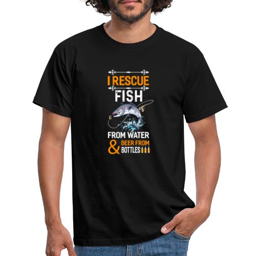 I rescue fish from water beer from bottles - Männer T-Shirt