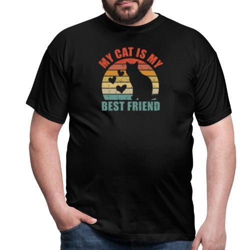 My cat is my best friend - Männer T-Shirt
