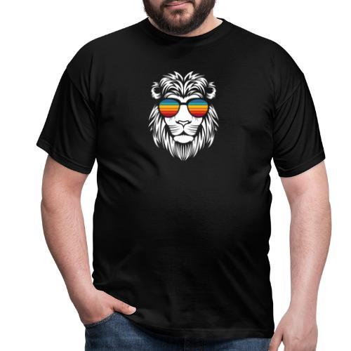 Lion Sunglas - Männer T-Shirt